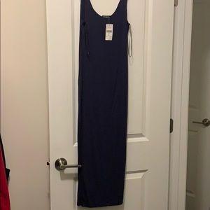 NWT navy blue fashion nova tank midi dress